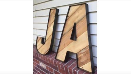 Come realizzare dell lettere di legno con vecchie pedane