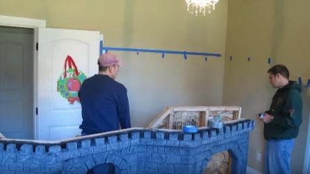 Il papà trasforma la stanza delle figlie in modo magico