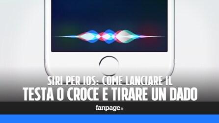 Lanciare un dado (virtuale) o giocare a testa o croce con Siri