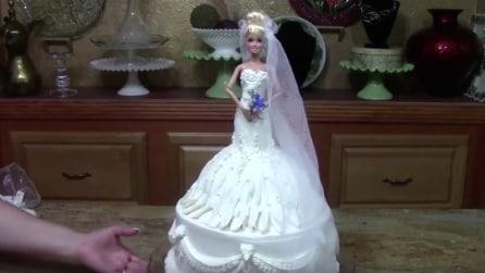 Come realizzare una torta a forma di Barbie Sposa