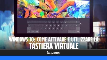 Attivare e utilizzare la tastiera virtuale in Windows 10