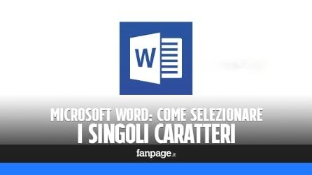 Microsoft Word: come selezionare i singoli caratteri e non le parole intere