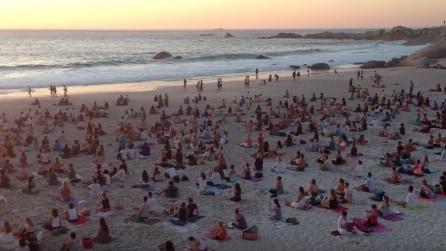 Tutti seduti sulla spiaggia: il motivo è sorprendente
