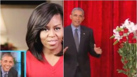 Barack e Michelle, dichiarazioni d'amore per San Valentino in diretta TV