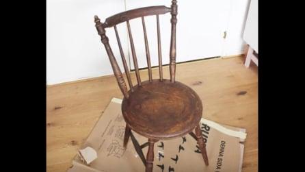 Prende una vecchia sedia: ecco come la trasforma