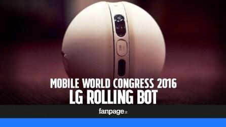 LG Rolling Bot: prova e video anteprima del robot che controlla la casa