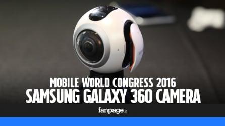 Samsung Galaxy 360 Camera: prova e video anteprima della fotocamera a 360°
