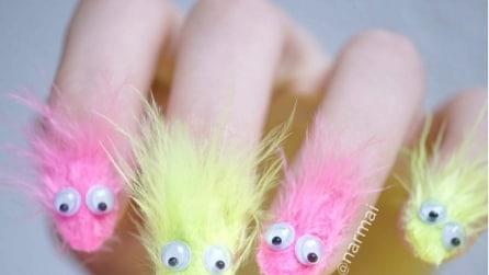 Furry nail: ecco come realizzare queste stravaganti unghie