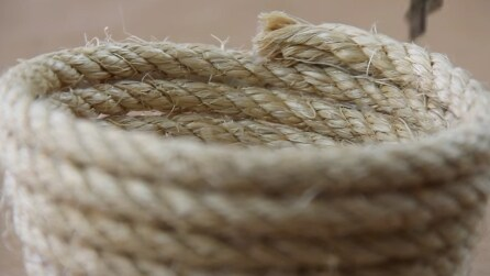 Come fare una ciotola con una corda