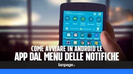 Avviare le app Android più velocemente con una scorciatoia nel Centro Notifiche