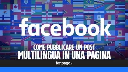 Pubblicare un post in una pagina Facebook in più lingue