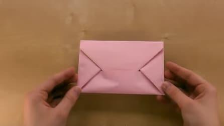 Come creare una busta per le lettere con la tecnica dell'origami
