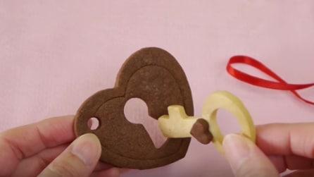 Come realizzare un romantico biscotto a forma di serratura