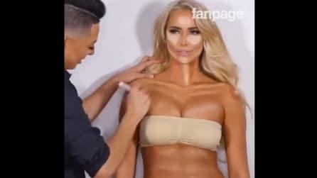 Come definire il decolleté con il make-up: la trasformazione è impressionante