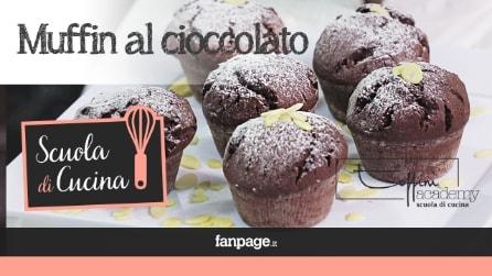 Videoricetta Muffin al cioccolato