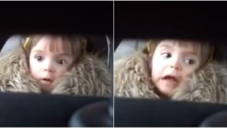 """La divertente reazione della bimba quando sente per la prima volta la musica de """"Lo squalo"""""""