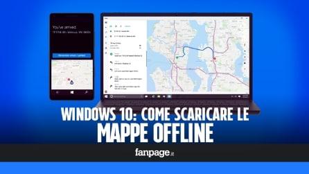 Scaricare le mappe offline in Windows 10 per risparmiare traffico dati