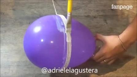 Enrola a corda em torno do balão: a idèia perfeita para a Páscoa