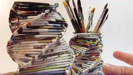 Come realizzare un cestino porta-trucco con delle riviste