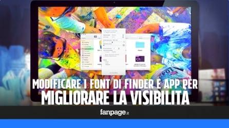 Modificare il font in OS X per migliorare la visibilità di testo e icone