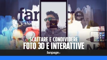 Scattare e condividere foto 3D interattive con iPhone e Android