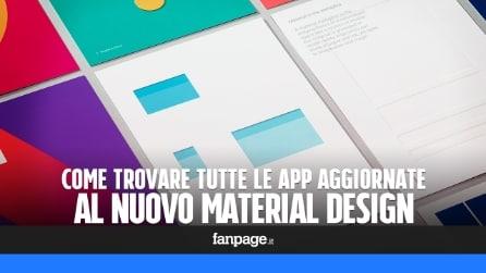 Come trovare tutte le app Android aggiornate a Material Design