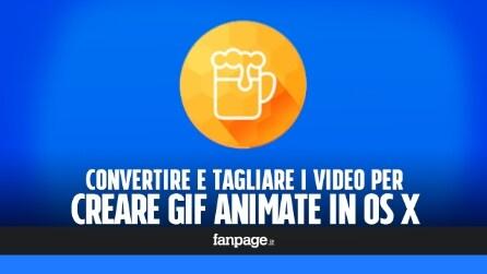Convertire un video in GIF in OS X