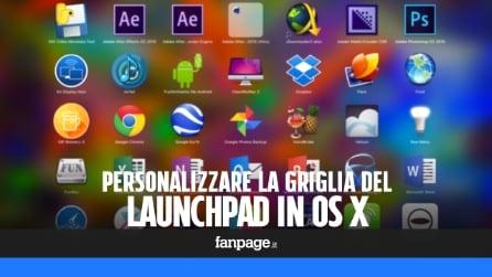 Personalizzare il Launchpad di OS X