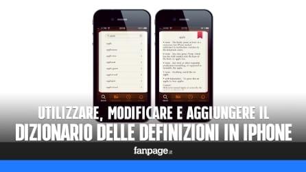 Utilizzare, aggiungere e modificare il dizionario delle definizioni in iPhone e iPad