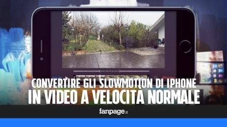 Convertire le moviole di iPhone in video a velocità normale