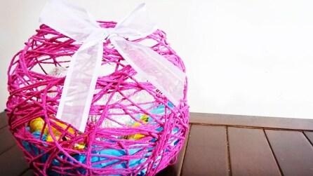 Come realizzare un cestino per le uova di Pasqua con un palloncino