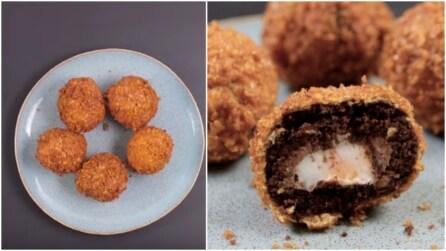Palline di cioccolata fritte: l'idea originale per la Pasqua