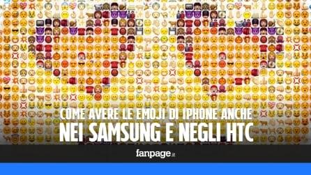 Come avere le Emoji di iPhone anche nei Galaxy di Samsung e negli HTC