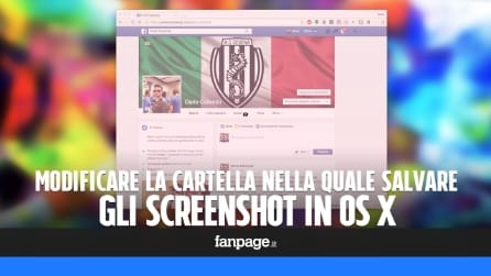Come modificare la cartella di salvataggio degli screenshot in OS X
