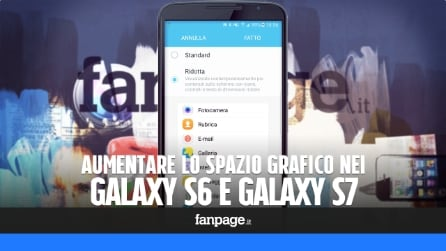 Aumentare lo spazio grafico disponibile nei Galaxy con un menu nascosto
