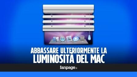 Come abbassare ulteriormente la luminosità del display dei Mac