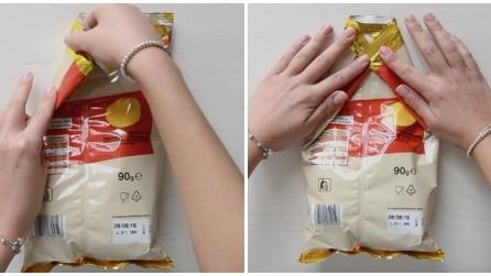 Ecco come chiudere un pacchetto di patatine