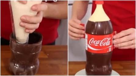 Come fare un dolce a forma di bottiglia di Coca Cola