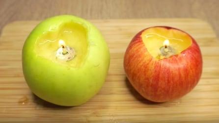 Come trasformare una mela in una candela
