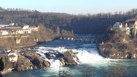 Le cascate più estese d'Europa si trovano in Svizzera: lo spettacolo delle Rheinfall