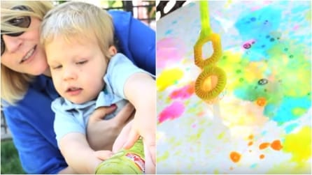 Mescola acqua e colorante alimentare: l'idea creativa per intrattenere i bambini
