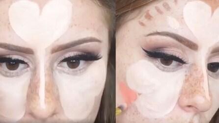 Disegna dei cuori sul viso, il metodo per un perfetto contouring