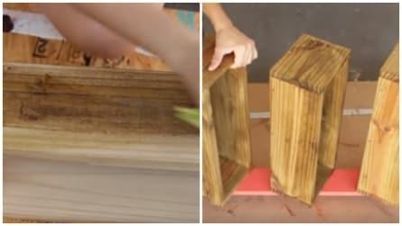 Prende delle tavole di legno e realizza qualcosa di utile e originale