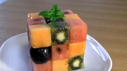 Come realizzare un cubo di frutta fresca per la macedonia