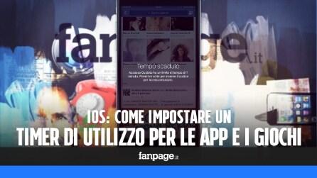 Impostare un timer per le app in iPhone e iPad