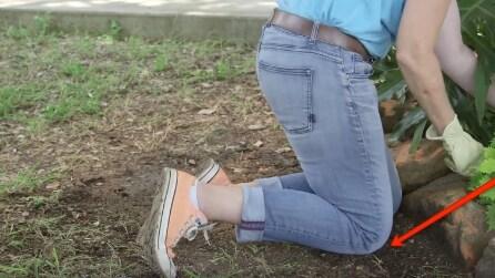 Il rimedio geniale per non sporcare i jeans di terreno