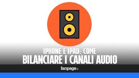 Come bilanciare i canali audio in iPhone, iPad e iPod Touch