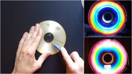 Come fare un arcobaleno artificiale usando un vecchio CD