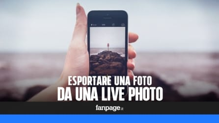 Salvare una foto da una Live Photo