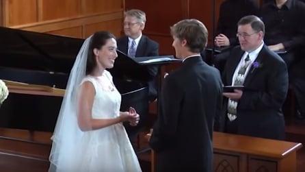 Hanno appena detto sì ma c'è ancora una sorpresa: la sposa resta senza parole